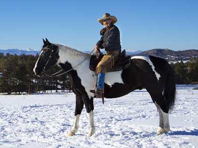 A Cowboy Ride's with a Prosthetic Leg